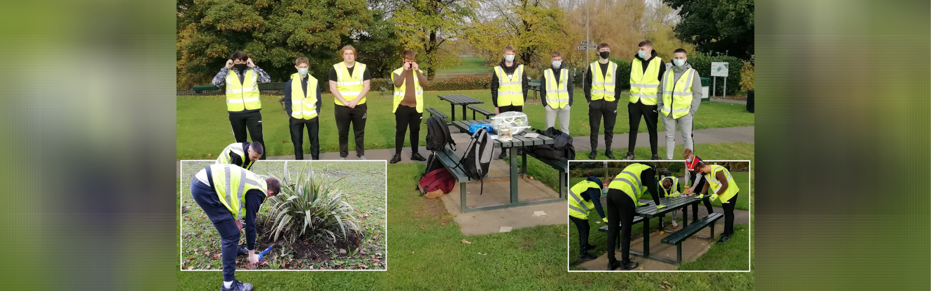 'It's fantastic to see young people supporting their community during this challenging time': NCS participants get green-fingered at Sandall Park.