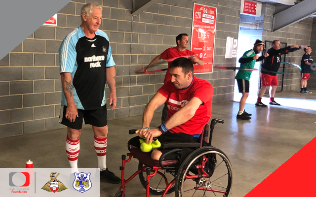 Fit Rovers strengthen friendship with Ben Parkinson MBE