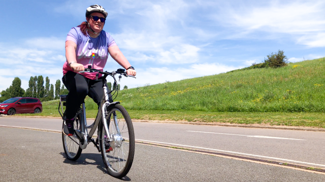 Bicycle library user Bea Wood praises Club Doncaster Foundation's inclusivity during Doncaster Pride Week