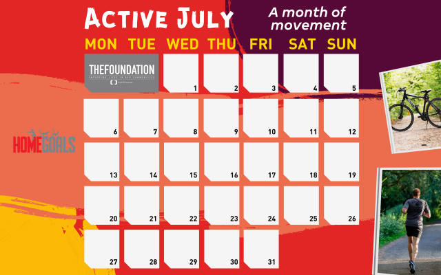 Foundation launch 'Active July; a month of movement' initiative.