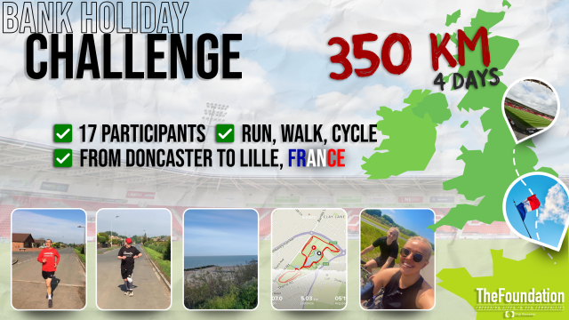 Home Goals participants travel from Doncaster to Lille by foot in virtual bank holiday challenge