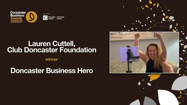 Foundation health and wellbeing Officer Lauren Cuttell named Doncaster Business Hero at Doncaster Chamber Business Awards
