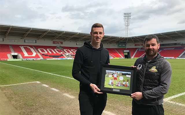 Reece Fielding is named Doncaster Rovers' Kicks Hero