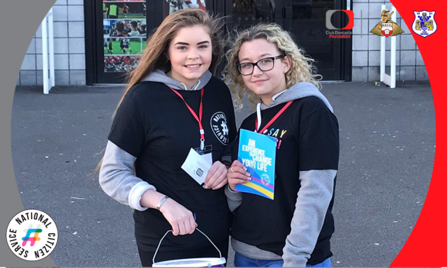 Club Doncaster Foundation raises £150 on NCS Matchday