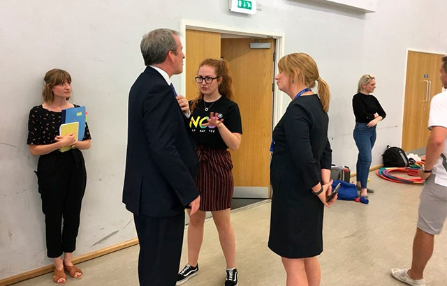 Club Doncaster Foundation's NCS graduates meet Secretary of State for Education