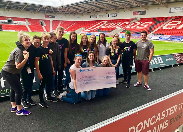NCS Doncaster raise £1,819 for Doncaster Cancer Detection Trust