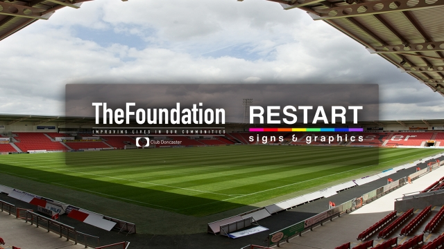 Restart Signs and Graphics renew their support as partners of Club Doncaster Foundation