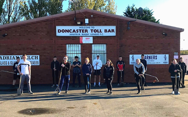 'It's a club we've got great connections with, so we're always looking to help out where we can': Club Doncaster Sports College students lend helping hand at Toll Bar RLFC
