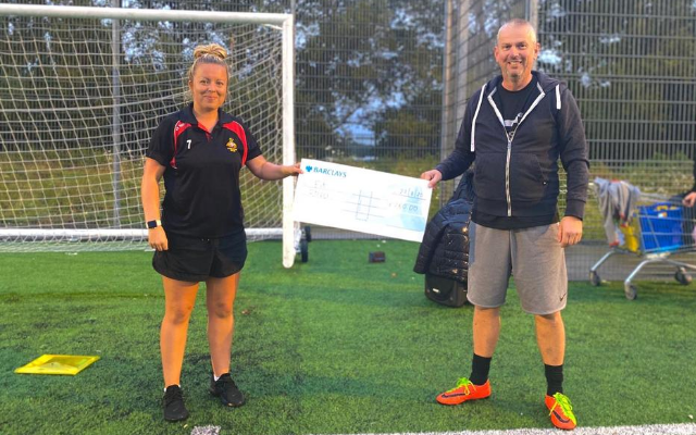 Fit Rovers participant makes generous donation to help support Foundation's operations