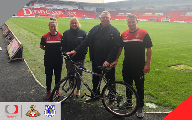 Balfour Beatty donate new bike to Foundation