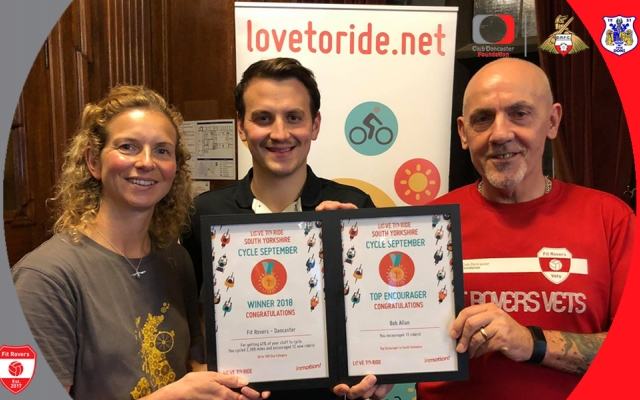 Fit Rovers awarded top prize at Love to Ride UK celebration event