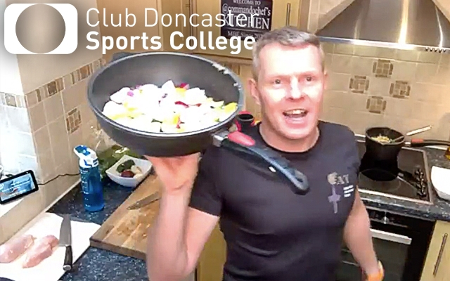 Sports College students treated to virtual cooking masterclass by Royal Marines Commando Chef Mike Beaton