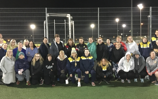 Belles players and management join Fit Rovers Ladies for walking football