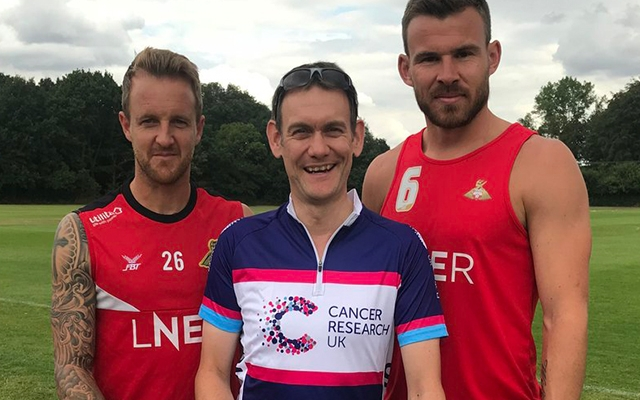Dr Crichton raises £477 for Cancer Research at the Keepmoat Stadium