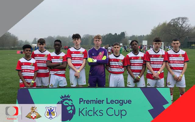 Doncaster Kicks take part in Premier League Kicks Cup