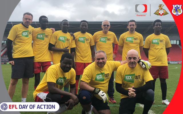 Foundation team up with Doncaster Rovers to welcome refugees to the Keepmoat Stadium