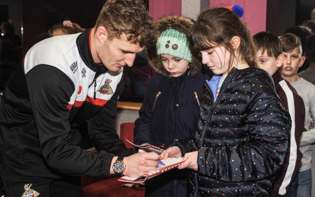 Young reporters enjoy first taste of football journalism