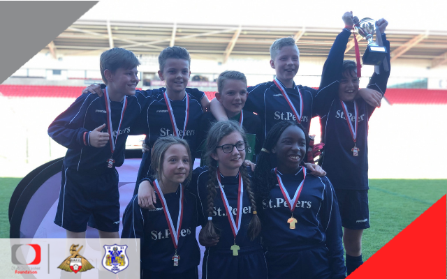 St Peter's and Ackworth Juniors win play on the pitch tournaments at the Keepmoat