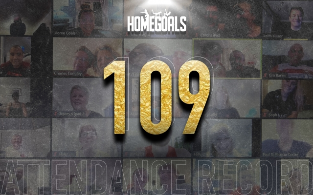 109 people attend live Home Goals workout to set new participation record